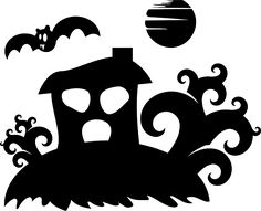 Haunted House, Halloween, Trees, Silhouette, Spooky