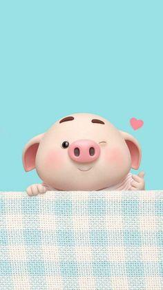 New Wallpaper Disney Cute Phone Backgrounds Ideas Pig Wallpaper, Animal Wallpaper, Disney Wallpaper, Trendy Wallpaper, Cute Piglets, 3d Art, Pig Illustration, Baby Pigs, Jolie Photo