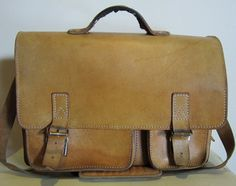 Vintage leather schoolbag!