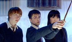 Still of Rupert Grint, Daniel Radcliffe and Katie Leung in Harry Potter and the Order of the Phoenix (2007)