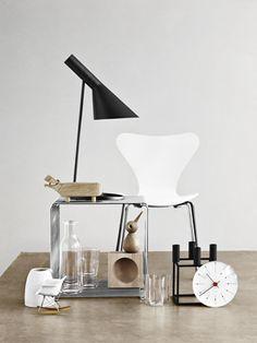 Via Line Klein   Arne Jacobsen Chair and Light   By Lassen Kubus   Architectmade Bird   Mini Eames