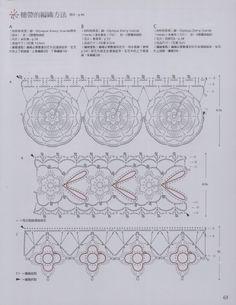 Crochê Tricô - Gráficos: Barradinhos