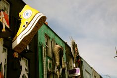 Camden Town, the only place on earth where people stick their shoes on walls !
