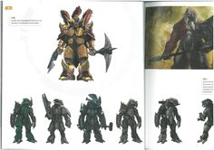 Scans from Halo 3 Art Book: Brutes