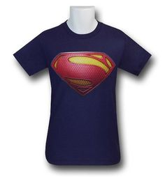 The 100% cotton Superman Man Of Steel Symbol Navy T-Shirt is the shirt you have been bugging us for the moment they announced the collaboration of Christopher Nolan and Zack Snyder on DC Comics' Man of Steel movie! Seriously, you can stop sending us emails now...we have it! The Superman Man Of Steel Symbol Navy T-Shirt has that shiny new textured symbol that you absolutely need on a soft t-shirt...okay, I'm done with this. You can go ahead and add to cart! <br>