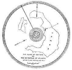 . Lost city of Atlantis map