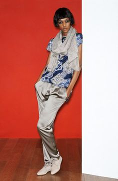 Fabiana Filippi Tunic Top, Satin Pants   Accessories available at   Nordstrom Graue Hose, 07014e6d0c