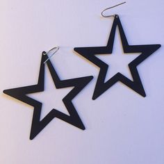 "Large Metal Cutout Star Dangle Earrings Large oversized star earrings. About 3"" from tip to tip.  All jewelry will be cleaned & sanitized before shipping. Rockstar / rock and roll / punk / fun / scene. Free shipping on ♍️ercari No P a y P a l. No trades. No holds. Claire's Jewelry Earrings"