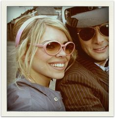 Billie Piper and David Tennant from DOCTOR WHO. rose tyler, my favorite of his companions. They had a wonderful chemistry.