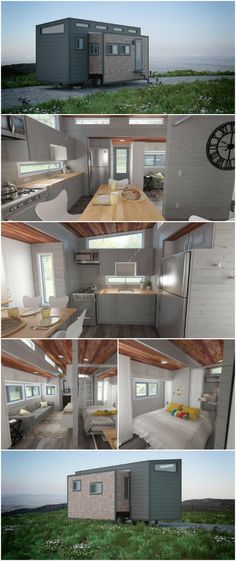 Looking for a Wide and Single-Level Tiny House on Wheels? We Found It! - When it comes to tiny houses, you're typically working with the same 8 foot wide limitations which often means you'll need a loft to squeeze in everything required for comfortable living. But that's not the case with the Aurora by ZeroSquared of Canada.