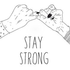 STAY STRONG... you've got this and you're stronger than you realise.  I've had a friend remind me of this so so many times recently almost on a daily basis.  ____________________  #mentalhealthawareness #wmhd2016 #worldmentalhealthday #worldmentalhealthday2016 #mentalhealth #anxiety #depression #friends #support #love #friendship #love #illustration #art #drawing #lineart #ink #inktober #inktober2016