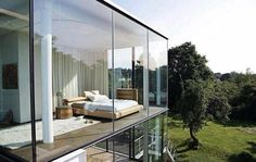 Beautiful glass house