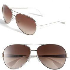 Emporio Armani Aviator Sunglasses ($110) ❤ liked on Polyvore