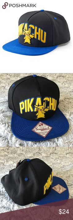 💫NWT☃️Winter Men's Pokemon SnapBack Cap🤠 New Men's Pokemon SnapBack Cap in OSFA.  Brand new w Tags.  Retail: $24, saves you $2 in tax.  Priced to sell... do not low ball.  Bundle to save. Pokemon Accessories Hats