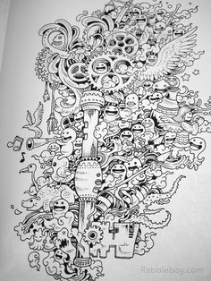 Doodle Invasion A Crazy Coloring Book By Kerby Rosanes Rabbleboy See More P1100206
