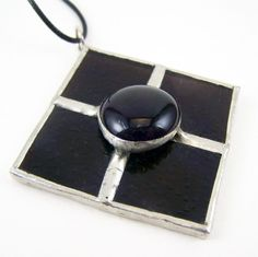 Royalty - Stained Glass Pendant with Black Cord by faerieglass