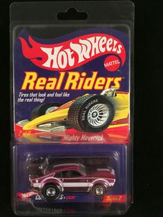 2004 Hot Wheels Redline Club RLC Series 3 Real Riders MIGHT MAVERICK Pink  #HotWheels #Ford