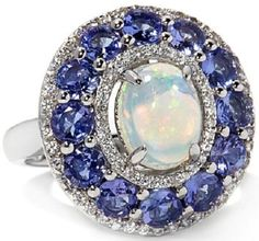 Colleen Lopez Welo Opal Tanzanite Ring
