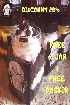 #terbatas #diskon #ongkir #promo #hallo #free #text #food #jar #and #20 #pa #2 DISKON 20 % + FREE 2 JAR + FREE ONGKIR ! PROMO TERBATAS! Hallo PaYou can find Brownies in a jar and more on our website.DISKON 20 % + FREE 2 JAR + FRE... Brownies In A Jar, Brownie Frosting, Chocolate Fondue, Candle Jars, Desserts, Food Jar, Free Text, Profile, Posts