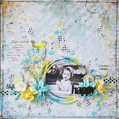 Summertime layout with Happy Accident by Vera Shelemekh