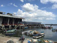 Puerto en La Bahía de Panamá. Cerca al Mercado del Marisco