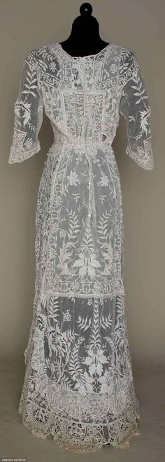 Spectacular Lace Dress, 1900