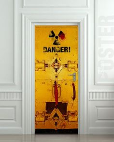 Wall Door STICKER danger laboratory safe resident evil radiation mural decole film sold by Pulaton. Shop more products from Pulaton on Storenvy, the home of independent small businesses all over the world. Resident Evil, Cafe Geek, Door Murals, Door Stickers, Vinyl Banners, Door Wall, Internal Doors, Do It Yourself Home, Interior Walls