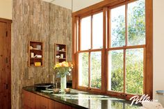 Pella® Architect Series® double-hung windows add style - contemporary - bathroom - other metro - by Pella Windows and Doors