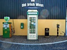 Old Irish Ways Museum, Bruff County Limerick, is home to an amazing collection of vintage rural Irish memorabilia. Old Irish, Telephone Booth, Irish Culture, Heritage Museum, Ireland Travel, Places To Visit, History, Irish American, Museums