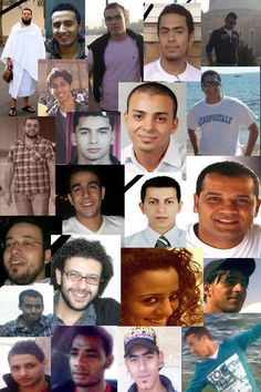 Some of 2011 Egyptian revolution Martyrs لن ننساكوا :(