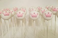 Princess cake pops#crown#birthday
