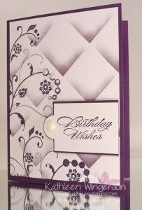 Faux Tile Technique with the Flowering Flourishes stamp set | Kathleen Stamps