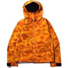 COLOR CAMO LIGHT WEIGHT HOODIE JACKET ($510) ❤ liked on Polyvore featuring jacket's