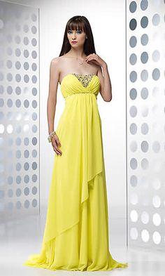 Jaune Robe de soiree longue En Col de Coeur SV3093   Yellow Dress, Dresses  Dresses 420bb3b84651