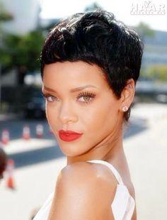 Rihanna Pixie Haar