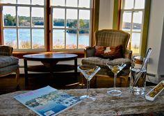 Maine Vacation Rental Cocktails at High Tide DownEast Maine Vacation Rental www.acadiamainevacation.com