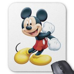 DISNEY COLLECTION Mouse Pad Round Mouse Pad Mickey Mouse Wallpaper Durable