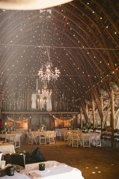 Elegant Barn Wedding from rusticweddingchic.com