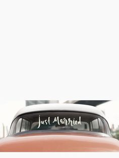 """Just Married"" Window Cling // $18.00"