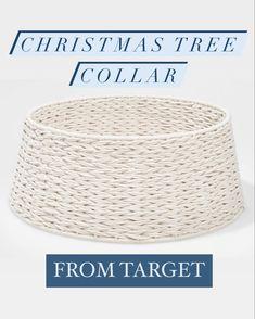 White Christmas Decor Tree Collar - Target Christmas decor