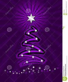 Purpurroter Stilisiert Weihnachtsbaum Stockbild - Bild: 3446591