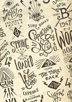 Lettering: Graphic & hand-lettering boards by BMD Design