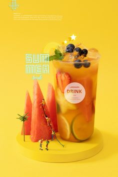 这个夏天有点黄 ~奶茶摄影 yellow summer drink tea on Behance Food Graphic Design, Food Poster Design, Menu Design, Food Design, Drink Menu, Food And Drink, Catering, Liquor Drinks, Tea Brands
