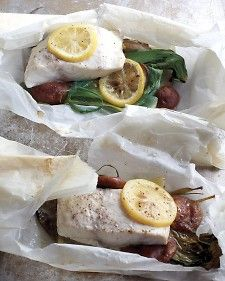 Baking fresh ingredients in parchment packets requires less fat than other cooking methods and keeps fish moist and tender. Quick cleanup is an added bonus.