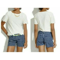 Madewell 1937 Navy and White Printed Shorts These are amazing and so versatile, a definite wardrobe staple! Madewell Shorts