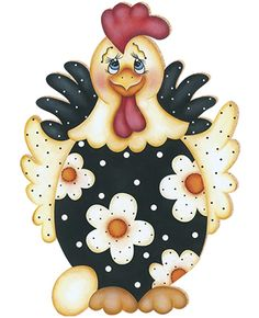 Arte Country, Pintura Country, Country Crafts, Chicken Crafts, Chicken Art, Applique Patterns, Applique Designs, Tole Painting, Fabric Painting