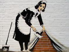 The Sweeper banksy wallpaper