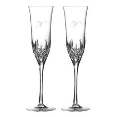 Waterford Lismore Essence 5 oz. Champagne Flute Letter: N