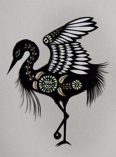 Heron - Cut Paper Art by ruralpearl, via Flickr