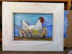 hen on nest White Hen, Hens On Nest, Farm Paintings, Artist, Animals, Animales, Animaux, Animal Memes, Animal